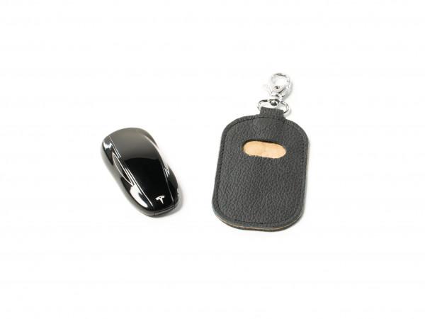 Premium-quality leather pouch | Alcantara material in tan (beige)