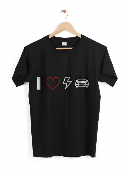 "T-Shirt ""I Love EVs"" - size L"